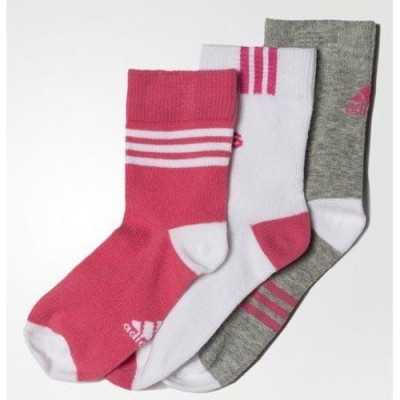 LK ANKLE 3PP CALCETINES ROSA/GRIS/BLANCO - Adidas